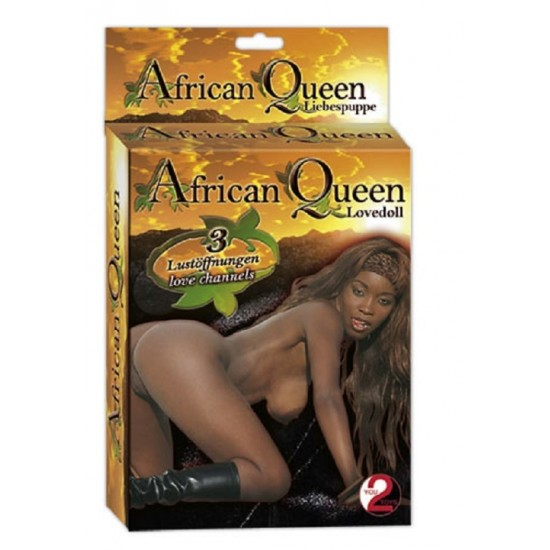 511315 You2Toys love doll African Queen with 3 openings