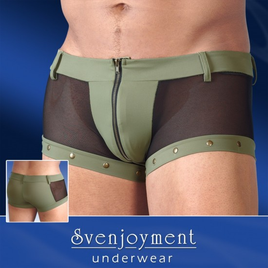 2131706 Zipper Boxer Brief Underwear Black/Olive