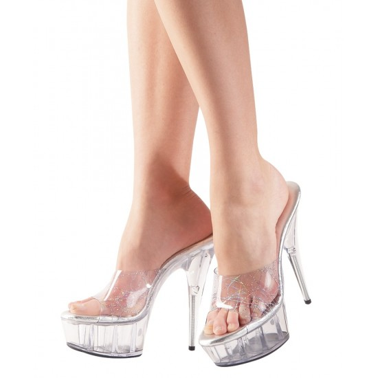 "2440369 High Heels Sandals ""Sydney"" Transparent"