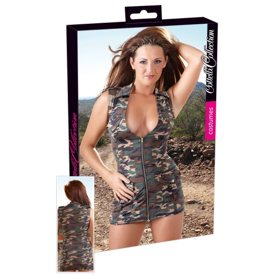 24700809051 Cottelli Collection Costumes Military Minidress XL