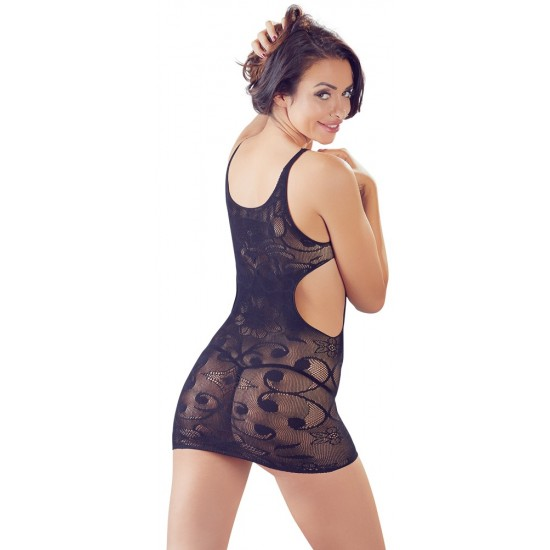 27167471101 Black Mini Dress with lace